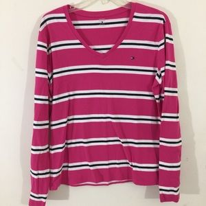 Tommy Hilfiger Striped Long Sleeve Sweater